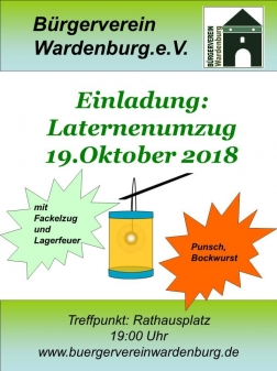 Laternenumzug in Wardenburg am 19.10.2018