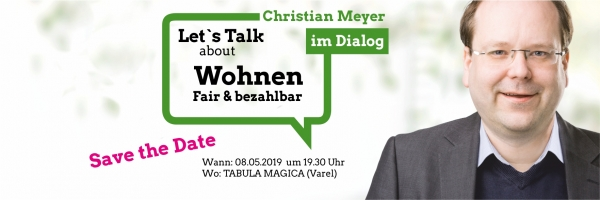 Christian Meyer bei uns in Varel