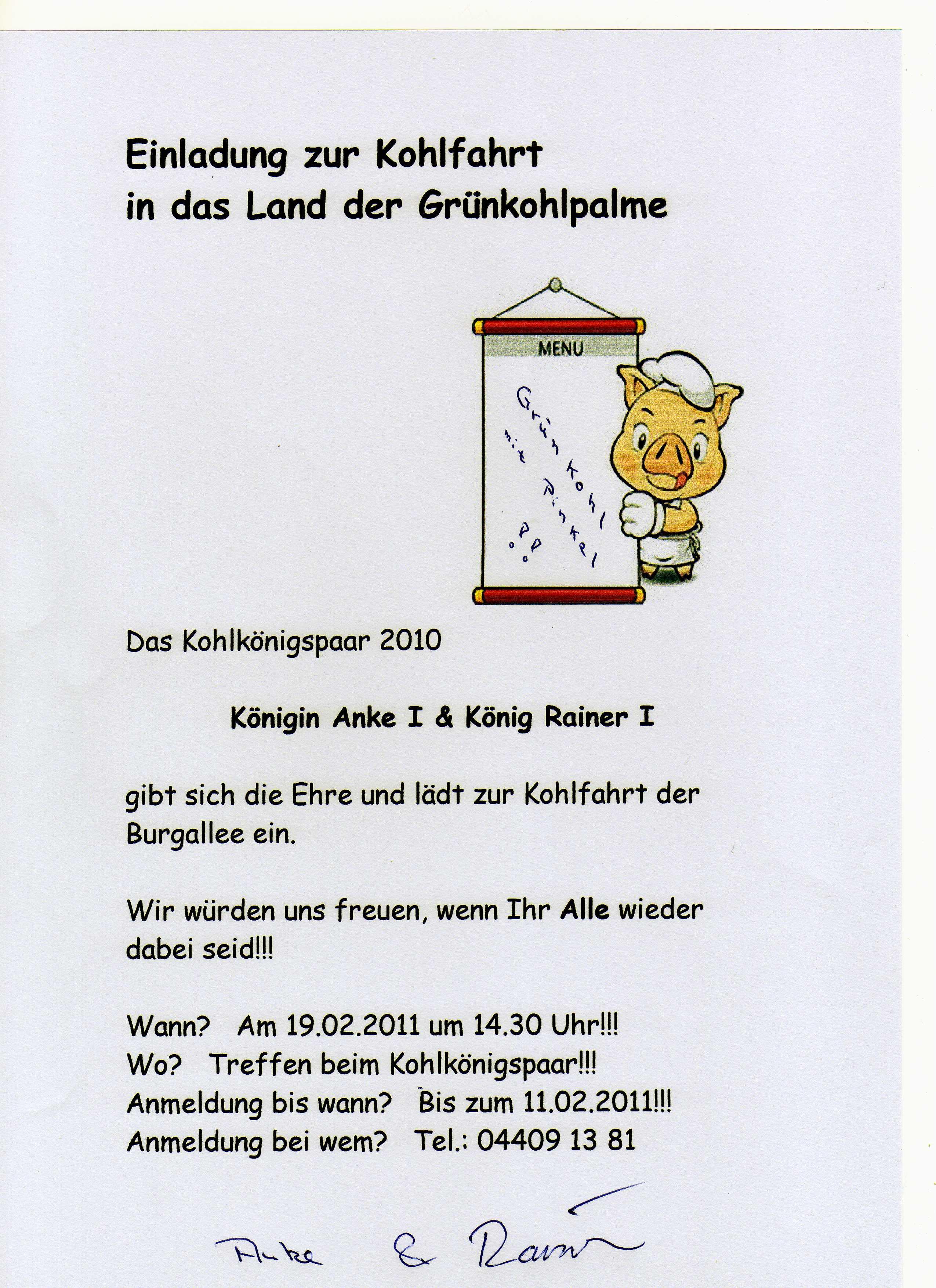 kohlfahrt 2011 | mein apen, Einladung